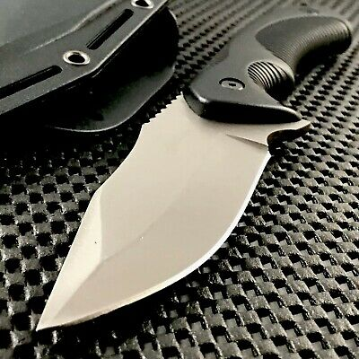 """9"""" Tactical Survival Hunting Skinning Fixed Blade Outdoor Boot Knife Nylon Fiber"""