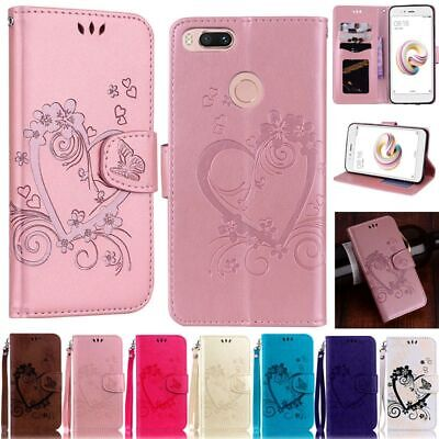 Heart Wallet Flip Leather Phone Case Cover For Xiaomi Mi 6 5X Redmi 4X Note 3 5A