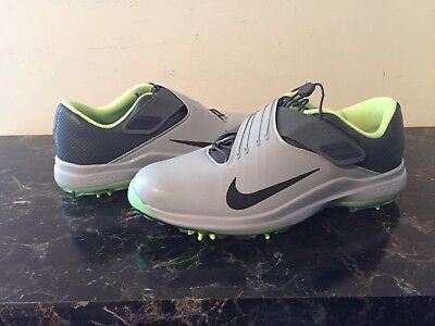 the latest 238c1 6c1ba Nike TW  17 Tiger Woods Mens Golf Shoes Grey Green Sz 9  200 (880955