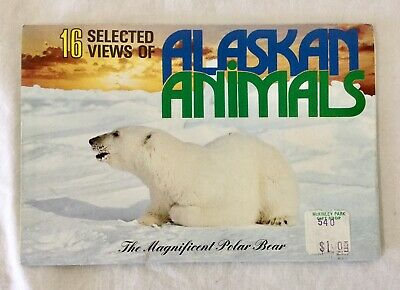 Vintage View Folder Postcard Alaskan Animals Colour Unused Arctic Circle Alaska