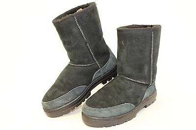 c308a741462 UGG NEW ZEALAND Vintage 5225 Ultra Short Womens W5 Black Suede Sheepskin  Boots