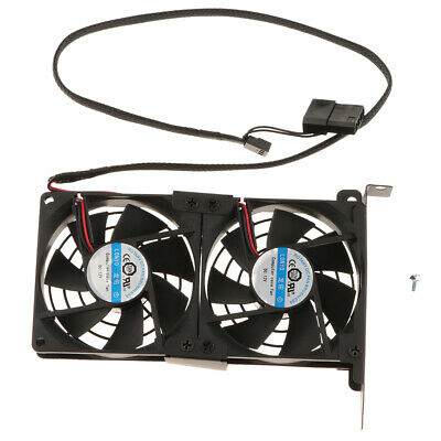 GPU Double Fan Partner VGA PCI Express Graphics Card Cooler Cooling Fans 9cm