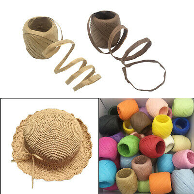 40m Raffia Paper Ribbon Rope for Present Wrapping, Scrapbook Embellishments