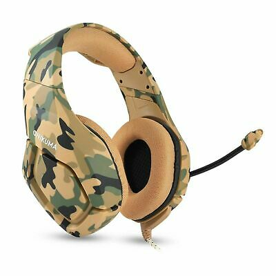 AU ONIKUMA K1 Camouflage Gaming Headset for PS4 Xbox Switch 3.5MM MIC Headphone