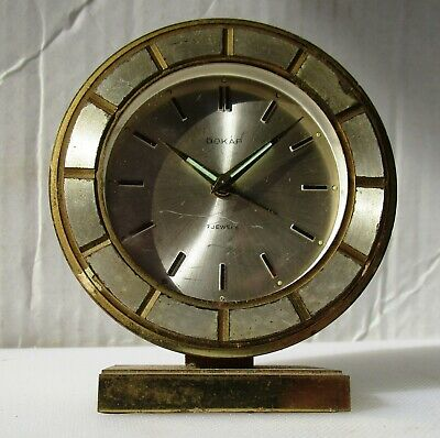 Damaged But Functioning Alarm Clock from DOKAR – 7 Jewels
