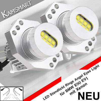 2x 80W LED Angel Eyes Standlicht BMW 3er E90 E91 LCI Bj 2005-2008 mit Xenon