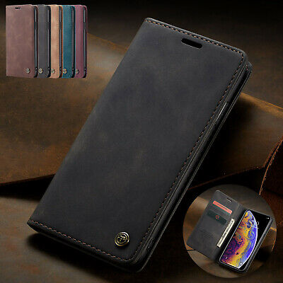 For iPhone 5s SE 6s 7 8 Plus Flip Wallet Case Retro Leather Stand Magnetic Cover