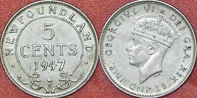 1947 CANADA 5 CENTS FREE SHIPPING Canada Nickel Bin Excellent Coin
