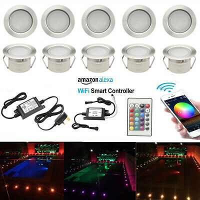 10x 45mm WIFI Controlling LED Deck Step Stair Light Outdoor Garden Recessed Lamp