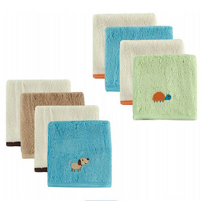 WOO Baby Kids Infant Unisex 4Pcs Absorbent Soft Fiber Bibs Saliva Towels 25*25cm