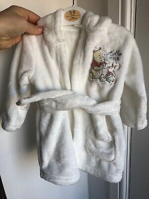 Winnie The Pooh Baby Dressing Gown 3-6 Months