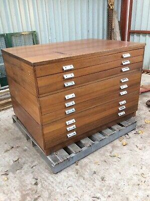 Plan Chest Architects Drawers Artists Map