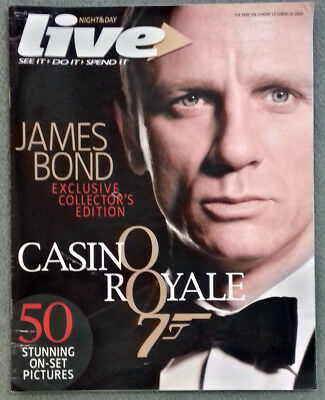 Live Mail on Sunday magazine Casino Royale collectors edition 29 October 2006