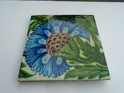 William de Morgan Tile  genuine 1890s rare vintage art + craft