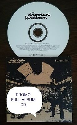 """The Chemical Brothers PROMO Full Album CD """"Surrender"""" 1999 Card Sleeve NEW"""