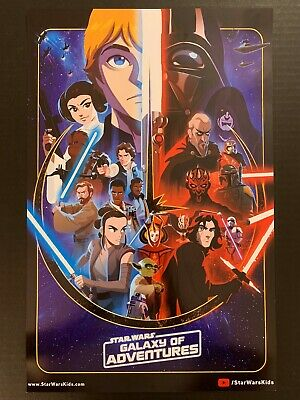 Swcc 2019~Exclusive~Star Wars Galaxy Of Adventures Poster Brand New!