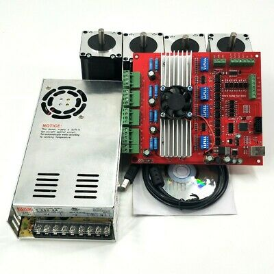 MACH3 CNC 4-Axis Kit TB6560 Controller Board+Nema23 Stepper Motor 57+Power os12