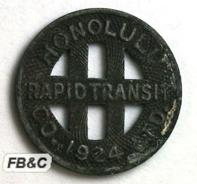 1924 Honolulu Rapid Transit Co. Token