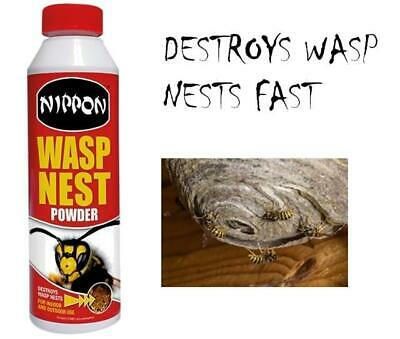 Nippon Wasp Nest Killer Destroyer Powder Effective Indoor and Outdoor Use 300g