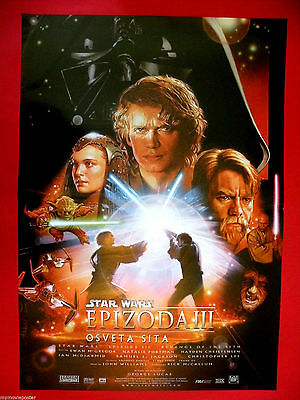 Star Wars Episode Iii 2005 George Lucas  Sci-Fi  Rare Serbian Movie Poster