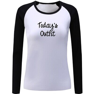 Womens Girls Casual T-shirts Print Graphic Today's Outfit Sport Tops Shirts Tee
