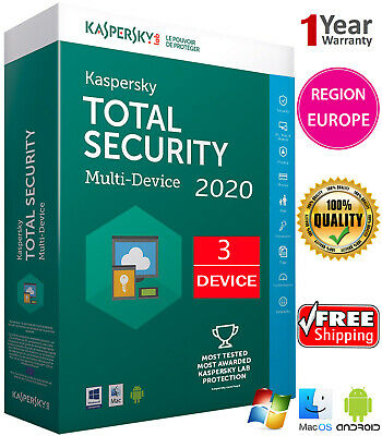 Kaspersky TOTAL Security 2020 3 Device /1 Year /Download /Region - EUROPE 14.25$