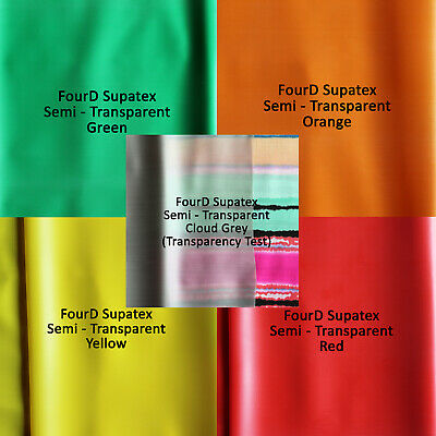 0.20mm Gauge 4D Rubber Semi Transparent Latex by Continuous Metre, 92cm Width