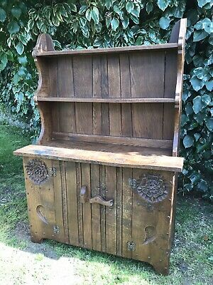 Original Jack Grimble Of Cromer Oak Welsh Dresser Unit-sideboard-cupboard