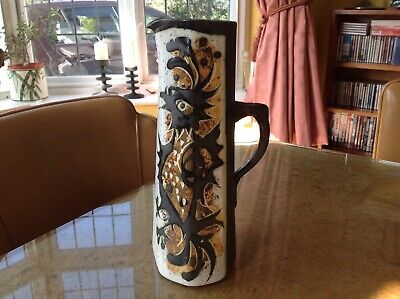 LARGE 1960s UNUSUAL CELTIC POTTERY JUG