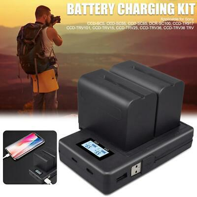 7200mAh Digital Camera Battery+USB Charger For Sony NP-F960 NP-F970