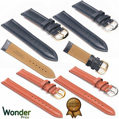 Mens Genuine Leather Watch Band Replacement Strap Size 8/10/12/14/16/18/20/22mm