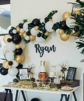 DIY Gold, Black & White Balloon Garland Kit-Party Decorations-Weddings-Venues