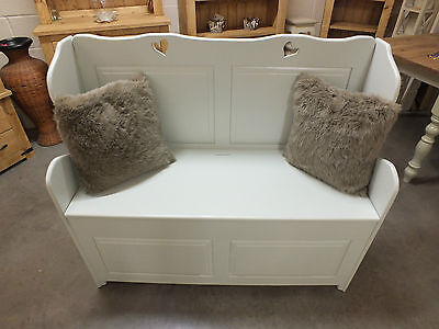 Painted 4' Monks Bench/ Pew/ Settle/ Seat/ Storage/ Solid Pine/ Various Colours