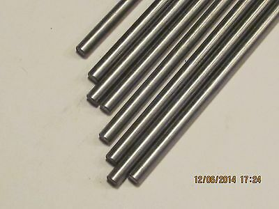 """1/4""""  Stainless Steel Rod  / Bar  Round 304   12"""" long   5 Pcs"""