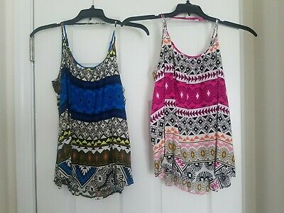 34baa862fc6682 Lot of 2 Womens Old Navy Adjustable Tie Back Tank Tops - Blue and Pink.