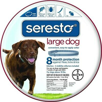 Bayer Seresto Flea & Tick Collar For Large Dogs Over 18 lbs
