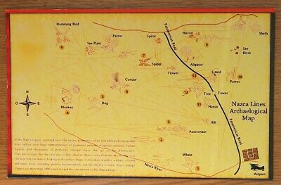 Map Print On Card For Framing Of A Nazca Lines Archaelogical Map In Peru