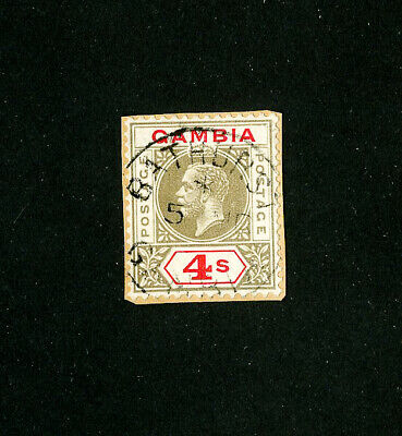Gambia Stamps # 96 VF used mounted on cardboard Scott Value $210.00