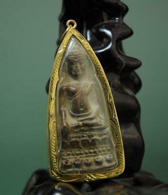 Old Collect Thailand Ayutthaya Maitreya Buddha Incense Ash Card Statue /06
