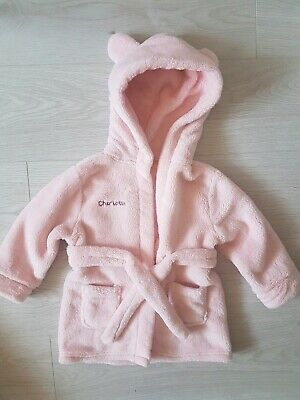 Personalised Dressing Gown for 'Charlotte' Pink 1-2 Years