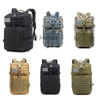 45L 3P Outdoor Military Tactical Backpack Molle Army Sport Travel Rucksack Bag