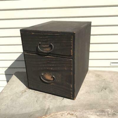 Japanese Boxes retro antique small two-stage drawer large cabinet old tools D9