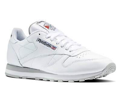 7ee9f7d8e5937 REEBOK MENS INTENSE White Light Grey Classic Leather Trainers UK 10 ...