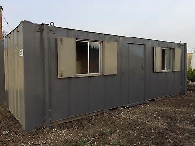 Site Office Portable Cabin 24ft Anti Vandal Steel Building Welfare Unit