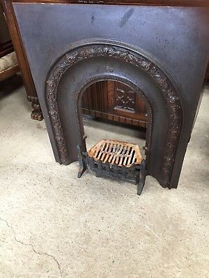 Vintage  HORSESHOE Fireplace Fire Surround Cast Iron Decorative 27/8/W