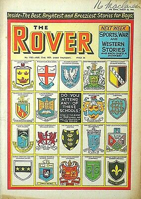 ROVER - 22nd AUGUST 1959 (20- 26 Aug) RARE 60th BIRTHDAY GIFT !! VGC beano eagle