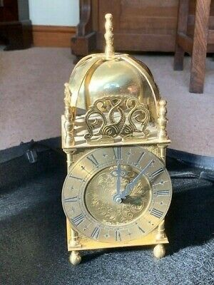 Vintage Smiths English brass Lantern Clock Made in Great Britain (not working)