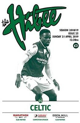 Hibernian v Celtic 2018/19 new football programme