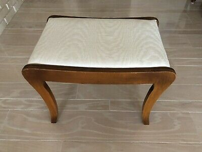 Vintage Vanity Bench Piano Seat Stool Chair Antique Upholstered Wood