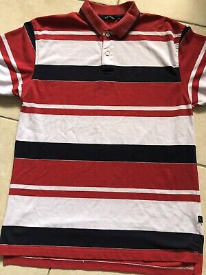 71ddedf89979 Yves Saint Laurent YSL Polo shirt - L - Striped Short Sleeve Rugby  Colorblock